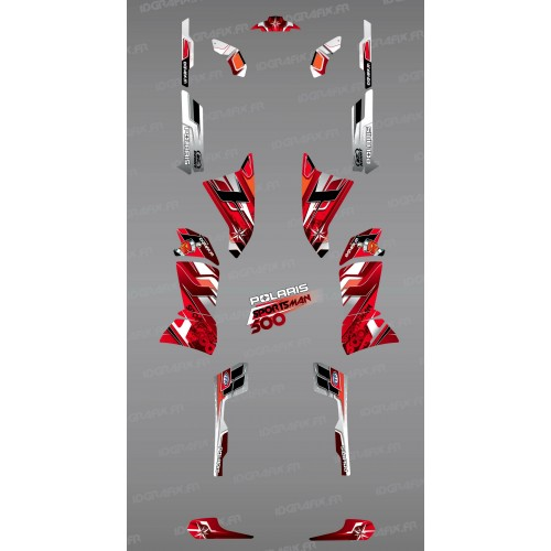 Kit décoration Red Pics Series - IDgrafix - Polaris 500 Sportsman