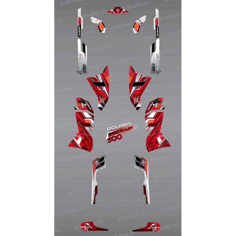 Kit de decoració Vermella Cims de la Sèrie - IDgrafix - Polaris 500 Esportista -idgrafix
