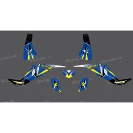 Kit décoration Geometric Bleu - IDgrafix - Suzuki  LTZ 400