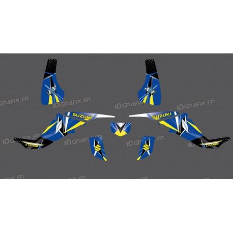 Kit décoration Geometric Bleu - IDgrafix - Suzuki  LTZ 400 - Idgrafix