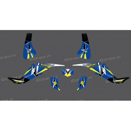Kit decorazione Geometrica Blu - IDgrafix - Suzuki LTZ 400 -idgrafix