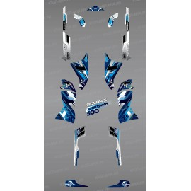Kit de decoració Blava Cims de la Sèrie - IDgrafix - Polaris 500 Esportista