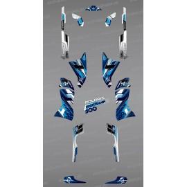 Kit decoration Blue Peaks Series - IDgrafix - Polaris 500 Sportsman