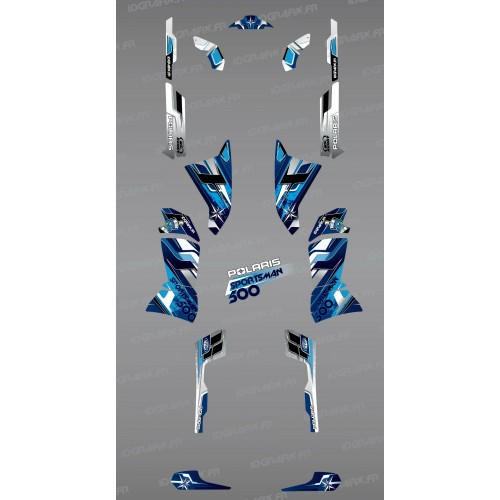 Kit décoration Blue Pics Series - IDgrafix - Polaris 500 Sportsman