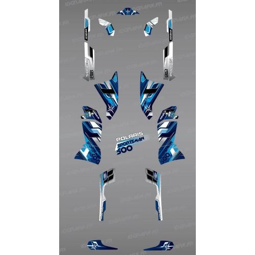 Kit de decoración Azul Picos de la Serie - IDgrafix - Polaris 500 Deportista