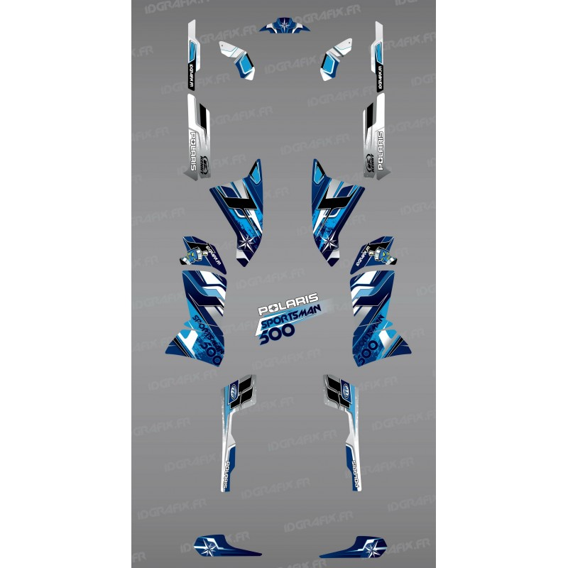 Kit de decoració Blava Cims de la Sèrie - IDgrafix - Polaris 500 Esportista -idgrafix