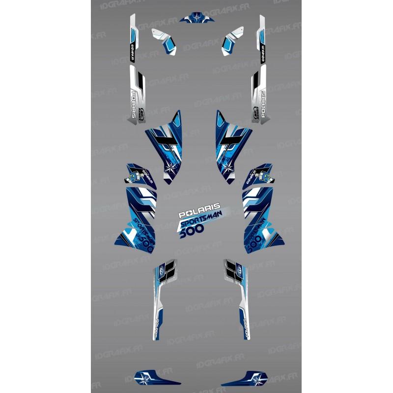 Kit de decoración Azul Picos de la Serie - IDgrafix - Polaris 500 Deportista -idgrafix