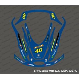 Etiqueta engomada de Rossi GP Edition - corte del Robot Stihl museo internacional de la mujer 422 -idgrafix
