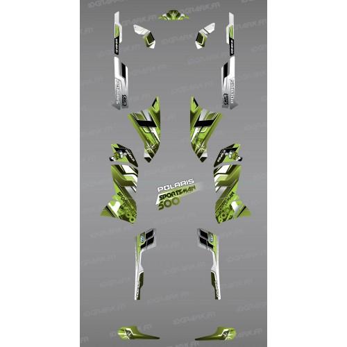 Kit de decoración de Picos Verdes de la Serie - IDgrafix - Polaris 500 Deportista