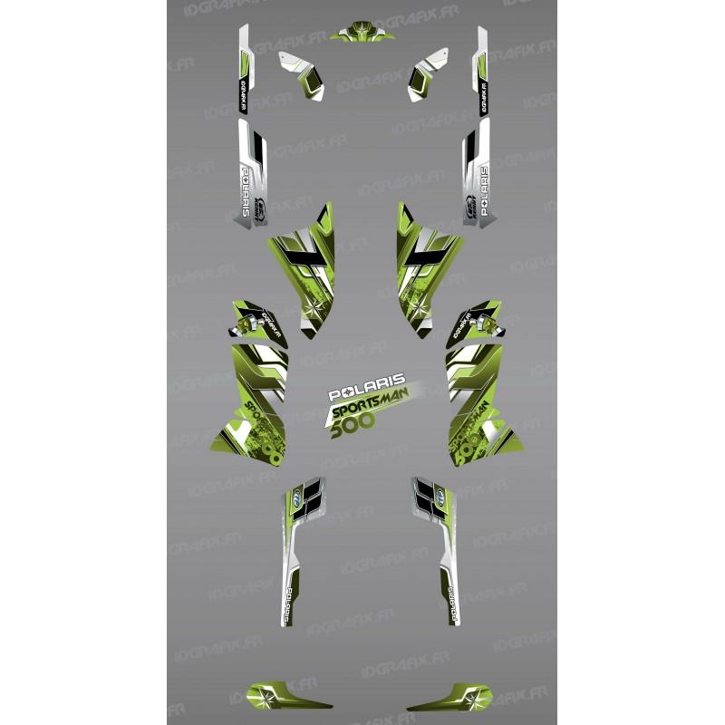 Kit de decoración de Picos Verdes de la Serie - IDgrafix - Polaris 500 Deportista -idgrafix
