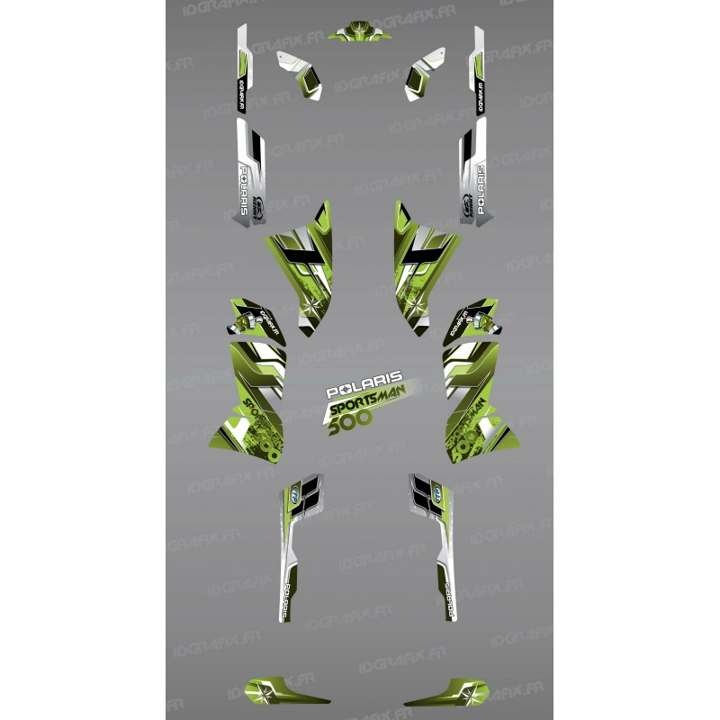 Kit dekor Pics Green Series - IDgrafix - Polaris 500 Sportsman -idgrafix