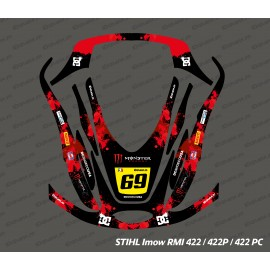 Sticker Monster Edition (Rouge) - Robot de tonte Stihl Imow 422