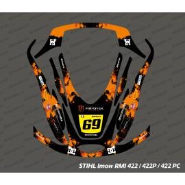 Sticker Monster Edition (Orange) - Robot de tonte Stihl Imow 422