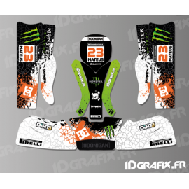Kit deco 100 % Personalizado Monstruo de Karting Rotax 125 -idgrafix