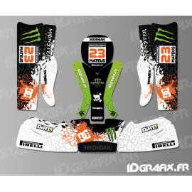 Kit deco 100 % Personalizzato Mostro per il Kart Rotax 125 -idgrafix
