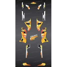 Kit de decoración de color Amarillo Picos de la Serie - IDgrafix - Polaris 500 Deportista