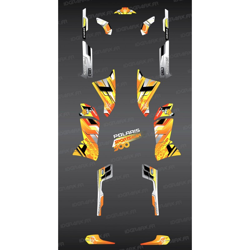Kit dekor Yellow Pics Series - IDgrafix - Polaris 500 Sportsman -idgrafix