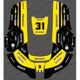 Etiqueta engomada de la Renault F1 Edition - Robot cortacésped Husqvarna AUTOMOWER -idgrafix