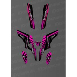 Kit Déco Fox Edition (Rose) - Kymco 300 Maxxer
