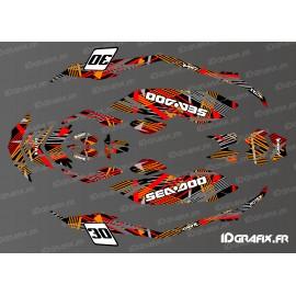 Kit de decoración de Cop Edición (Rojo/Naranja) SPARK -idgrafix
