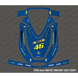 Etiqueta engomada de Rossi GP Edition - corte del Robot Stihl museo internacional de la mujer 632 -idgrafix