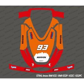 Etiqueta engomada de la Marca GP Edition - corte del Robot Stihl museo internacional de la mujer 632 -idgrafix