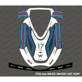 Aufkleber F1 Williams Edition - Roboter mähen Stihl Imow 632