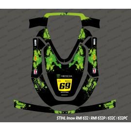 Sticker Monster Edition (Grün) - Roboter mähen Stihl Imow 632