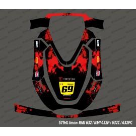 Sticker Monster Edition (Rouge) - Robot de tonte Stihl Imow 632