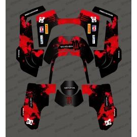 Etiqueta engomada de la Monster Edition (Rojo) - Robot cortacésped Husqvarna AUTOMOWER 435-534 AWD -idgrafix