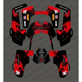 Sticker Monster Edition (Red) - Robot mower Husqvarna AUTOMOWER 435-534 AWD