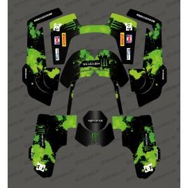 Etiqueta engomada de la Monster Edition (Verde) - Robot cortacésped Husqvarna AUTOMOWER 435-534 AWD -idgrafix