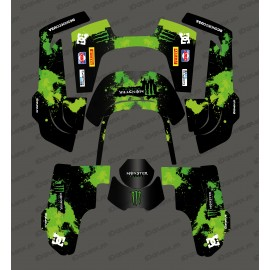 Sticker Monster Edition (Vert) - Robot de tonte Husqvarna AUTOMOWER 435-534 AWD