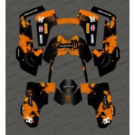 Sticker Monster Edition (Orange) - Robot mower Husqvarna AUTOMOWER 435-534 AWD