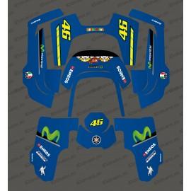 Etiqueta engomada de Rossi GP Edition - Robot cortacésped Husqvarna AUTOMOWER 435-534 AWD -idgrafix