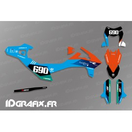 Kit deco Go Pro Edition (Blue) for KTM SMC-R 690 - IDgrafix