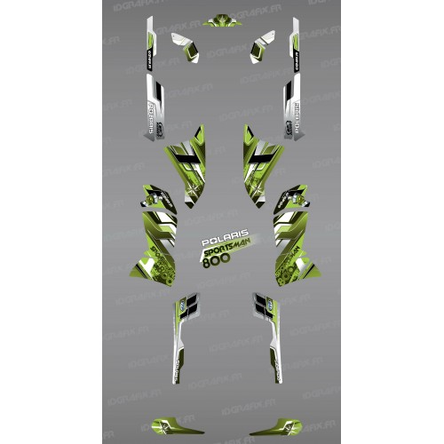 Kit décoration Green Pics Series  - IDgrafix - Polaris 800 Sportsman
