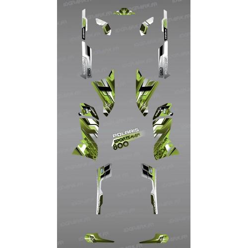 Kit de decoració Verda Cims de la Sèrie - IDgrafix - Polaris 800 Esportista