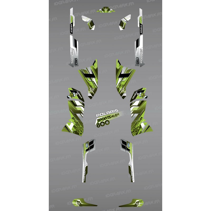 Kit decoration Green Peaks Series - IDgrafix - Polaris 800 Sportsman - IDgrafix