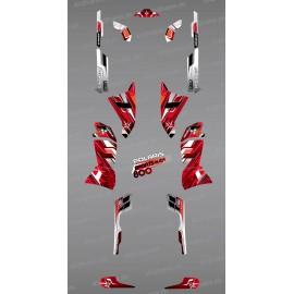 Kit decorazione Rosso Picchi di Serie - IDgrafix - Polaris Sportsman 800