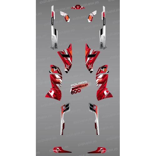 Kit de decoració Vermella Cims de la Sèrie - IDgrafix - Polaris 800 Esportista