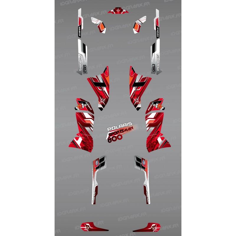 Kit décoration Red Pics Series - IDgrafix - Polaris 800 Sportsman-idgrafix