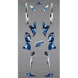 Kit de decoració Blava Cims de la Sèrie - IDgrafix - Polaris 800 Esportista