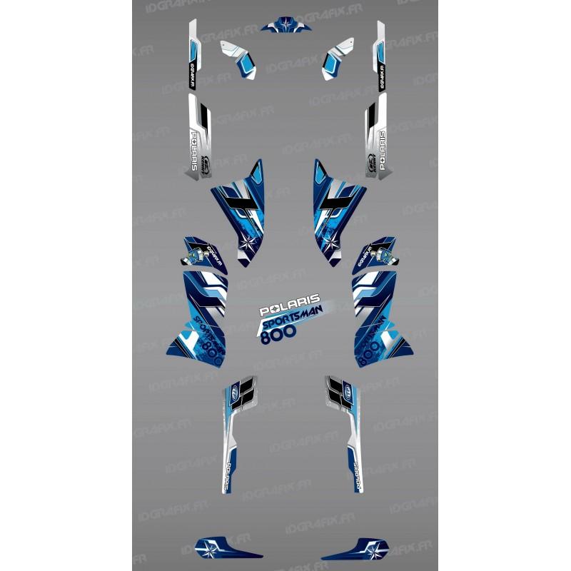 Kit dekor Blue Peaks Series - IDgrafix - Polaris Sportsman 800  -idgrafix