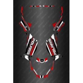 Kit de decoracion de Carrera Completo de la Edición (Rojo) - Polaris Sportsman 570 (después de 2021) -idgrafix