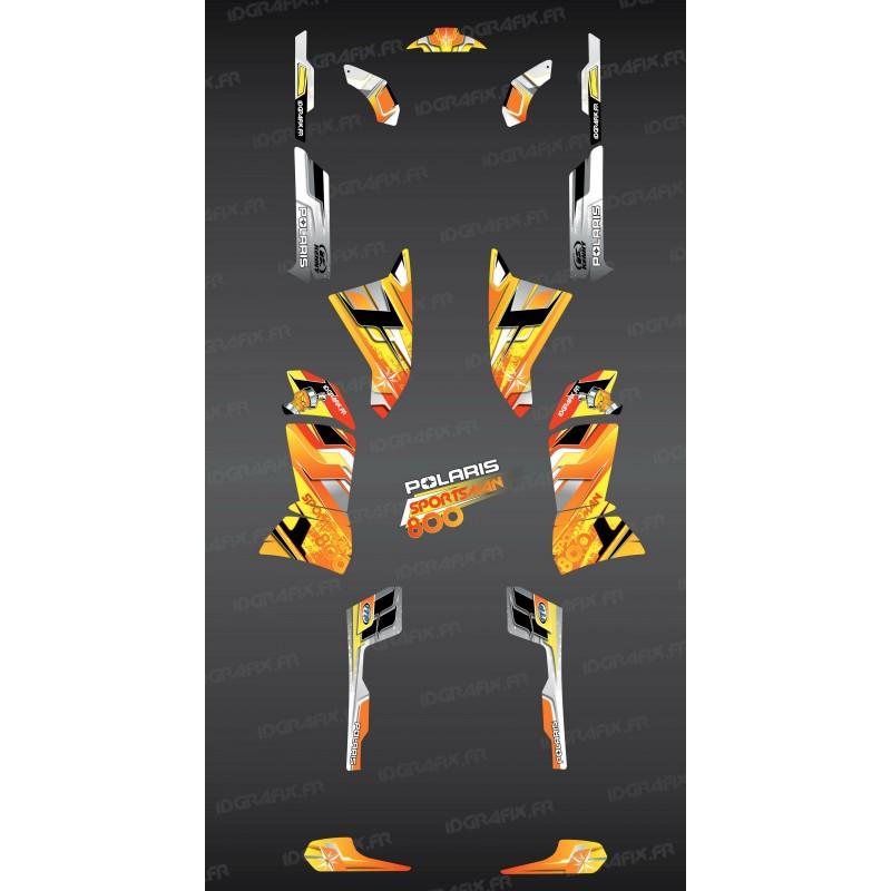 Kit décoration Yellow Pics Series - IDgrafix - Polaris 800 Sportsman-idgrafix