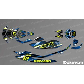Kit decoration, Full BRIDGE Edition (White/Blue) - SEADOO SPARK - IDgrafix