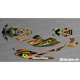 Kit decoration, Full BRIDGE Edition (Orange/Black) - SEADOO SPARK - IDgrafix