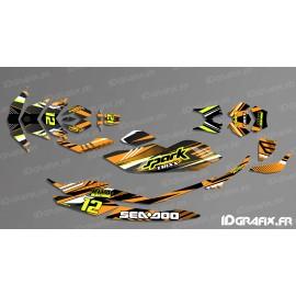 Kit decoration, Full BRIDGE Edition (Orange/White) - SEADOO SPARK - IDgrafix