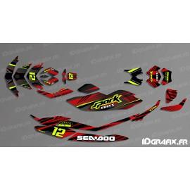 Kit de decoració, Plena PONT Edició (Vermell/Negre) - SEADOO ESPURNA -idgrafix